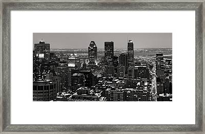 Montreal City Framed Print by Pierre Leclerc Photography
