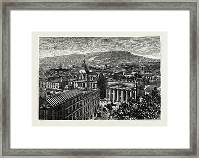 Montreal, From The Towers Of Notre Dame, Overlooking Framed Print