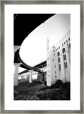 Montreal Harbour Bridge Casino Framed Print by Eric Soucy