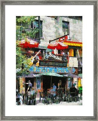 Montreal Latin Quater Framed Print by Mick Flynn