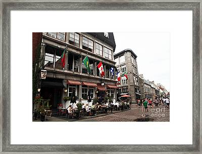 Montreal Lunch Framed Print by John Rizzuto