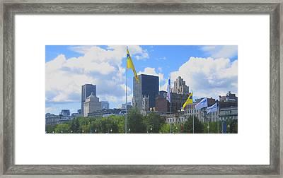Montreal Skyline Framed Print by Ann Powell