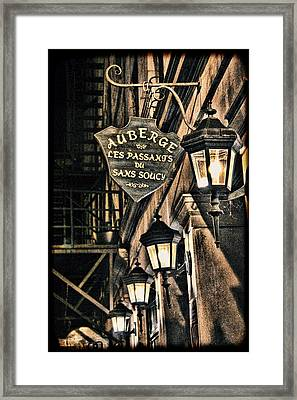 Montreal - Street Lamps Light The Way Framed Print