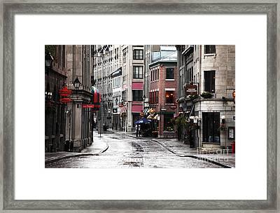 Montreal Street Scene Framed Print