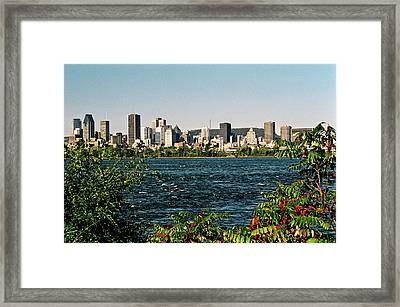 Montreal - Sur Le Fleuve  Framed Print by Juergen Weiss