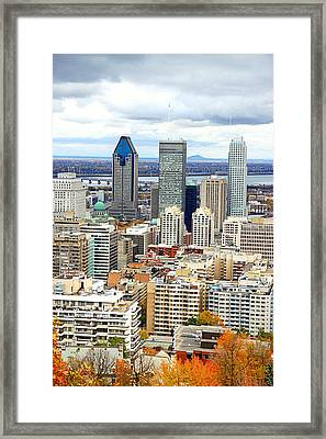 Montreal View Framed Print by Valentino Visentini