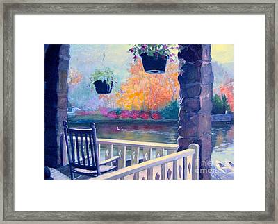 Montreat Porch Framed Print