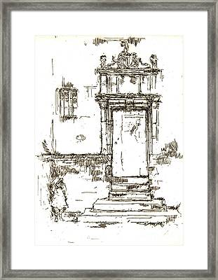 Montresor Chapel Doorway 1840 Framed Print by Padre Art