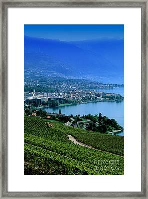 Montreux, Switzerland Framed Print by Bill Bachmann