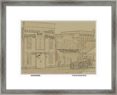 Montrose Colorado Framed Print by Janice Rae Pariza