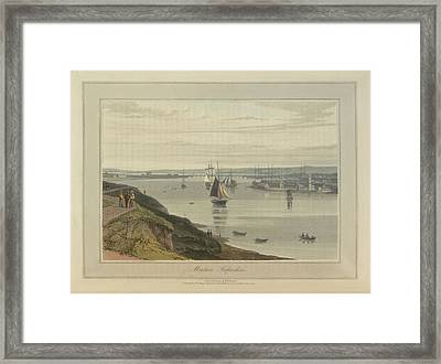 Montrose Port And Harbour In Forfarshire Framed Print by British Library