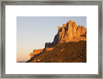 Montserrat At Sunset Framed Print by Javier Fores