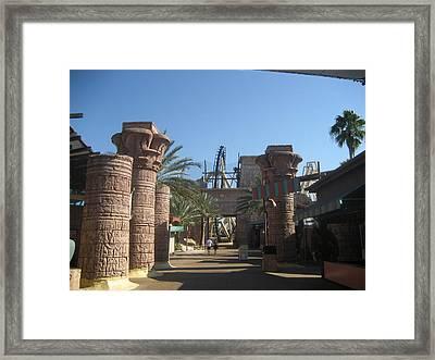 Montu Roller Coaster - Busch Gardens Tampa - 01131 Framed Print