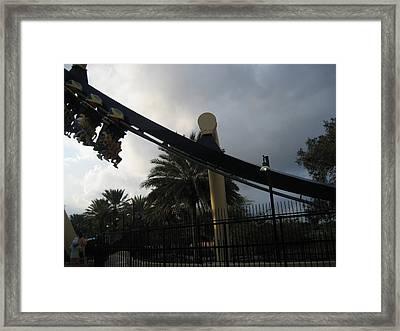 Montu Roller Coaster - Busch Gardens Tampa - 01138 Framed Print