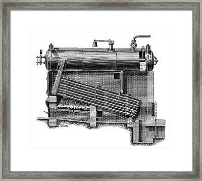 Montupet Boiler Framed Print by Science Photo Library