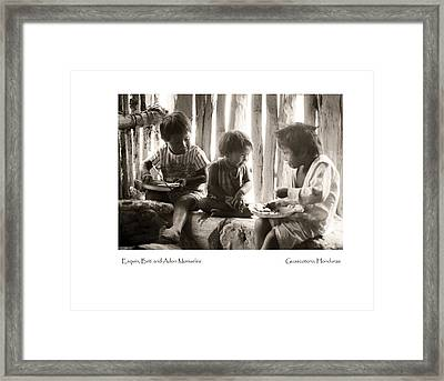 Framed Print featuring the photograph Monueles Children by Tina Manley