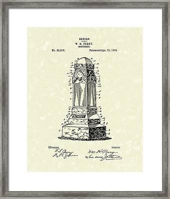 Monument 1895 Patent Art Framed Print by Prior Art Design