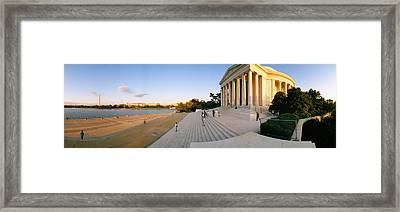 Monument At The Riverside, Jefferson Framed Print