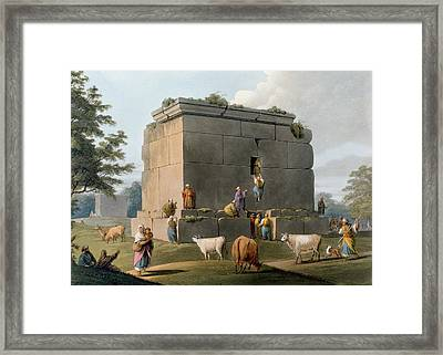 Monument Between Tripoli And Tortosa Framed Print by Luigi Mayer