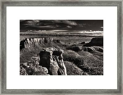 Monument Canyon Monolith Framed Print