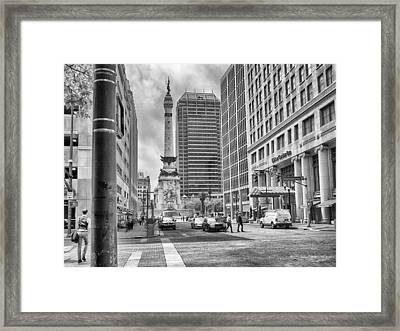 Monument Circle Framed Print by Howard Salmon