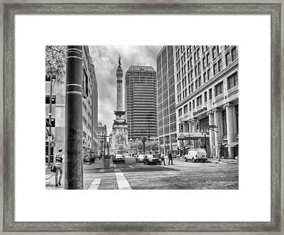 Monument Circle Framed Print