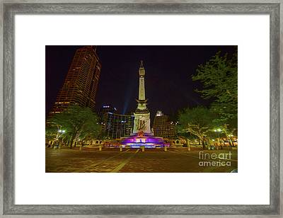 Monument Circle Indianapolis Digital Oil Paint Framed Print by David Haskett