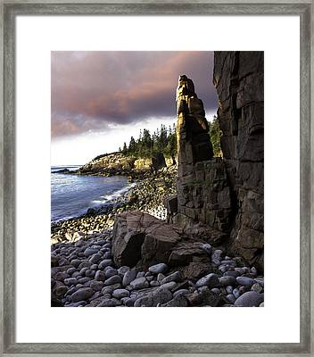 Monument Cove Sunrise 4984 Framed Print by Brent L Ander