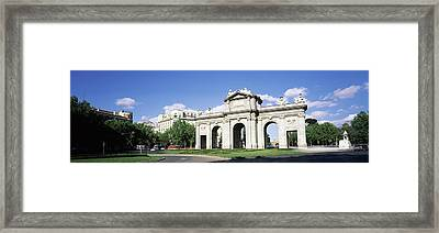 Monument In A City, Alcala Gate, Plaza Framed Print