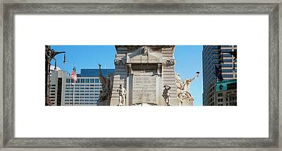 Monument In A City, Soldiers Framed Print by Panoramic Images