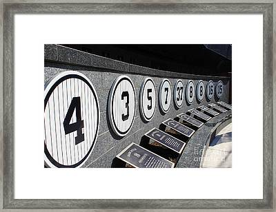 Monument Park Framed Print