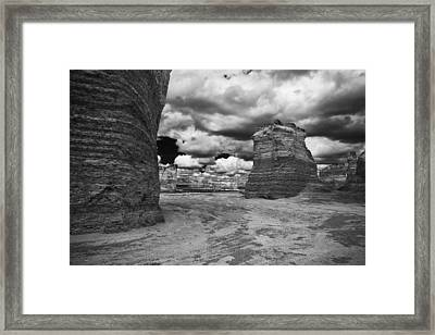 Monument Rock Framed Print by Jay Stockhaus
