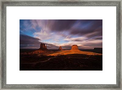 Monument Skys Framed Print
