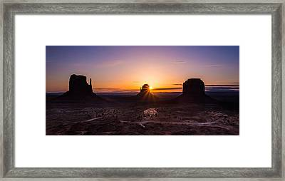 Monument Sunrise Framed Print