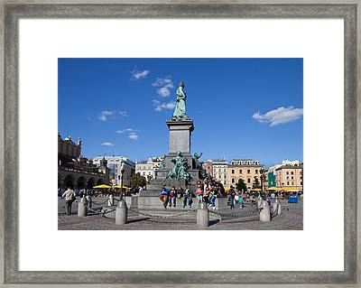 Monument To Adam Mickiewicz, The Great Framed Print by Panoramic Images