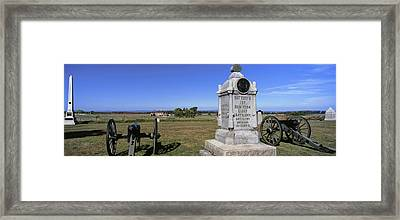 Monument To Battery B, First New York Framed Print