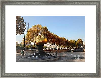 Monument To Diana Framed Print by Jacqueline M Lewis