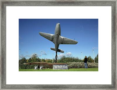 Monument To Frank Whittle Framed Print by Martin Bond
