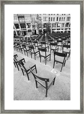 Monument To Jews Killed During The Nazi Framed Print