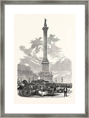 Monument To Major-general Sir Isaac Brock Framed Print by Canadian School