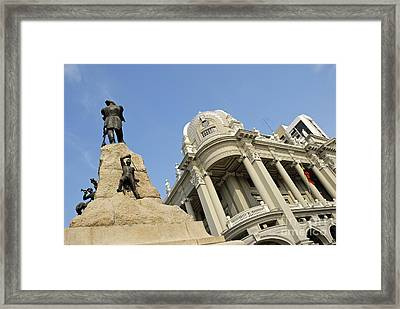 Monument To Mariscal Sucre Framed Print by Sami Sarkis