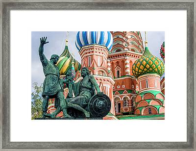 Monument To Minin And Pozharsky Framed Print by Tom Norring