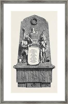 Monument To Officers And Privates Of The 90th Light Framed Print by English School