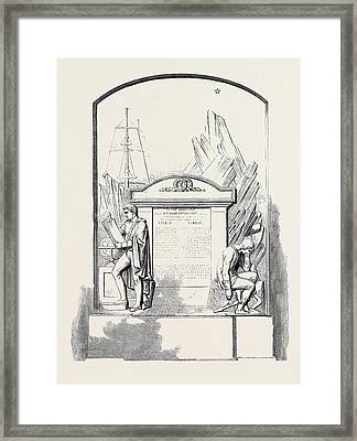 Monument To Sir John Franklin And His Companions Framed Print by English School