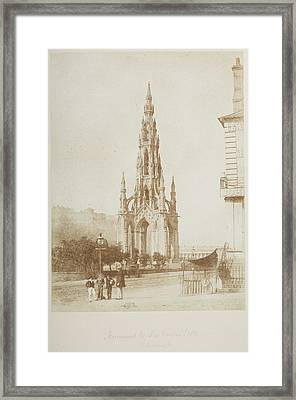 Monument To Sir Walter Scott Framed Print by British Library