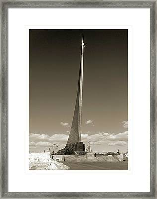 Monument To The Conquerors Of Space Framed Print
