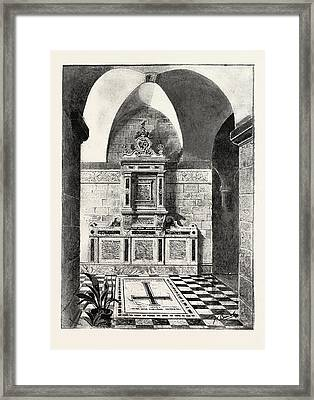 Monument To The Late Sir Bartle Frere Erected In The Crypt Framed Print