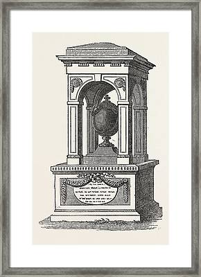 Monument To The Memory Of Sir Hans Sloane, The Founder Framed Print by English School