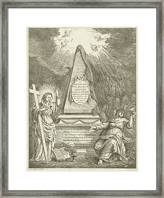 Monument To Wilhelmus Somveen, Hermanus Van Brussel Framed Print by Hermanus Van Brussel And Jan Severeinse