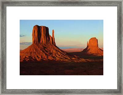 Monument Valley 2 Framed Print by Ayse Deniz